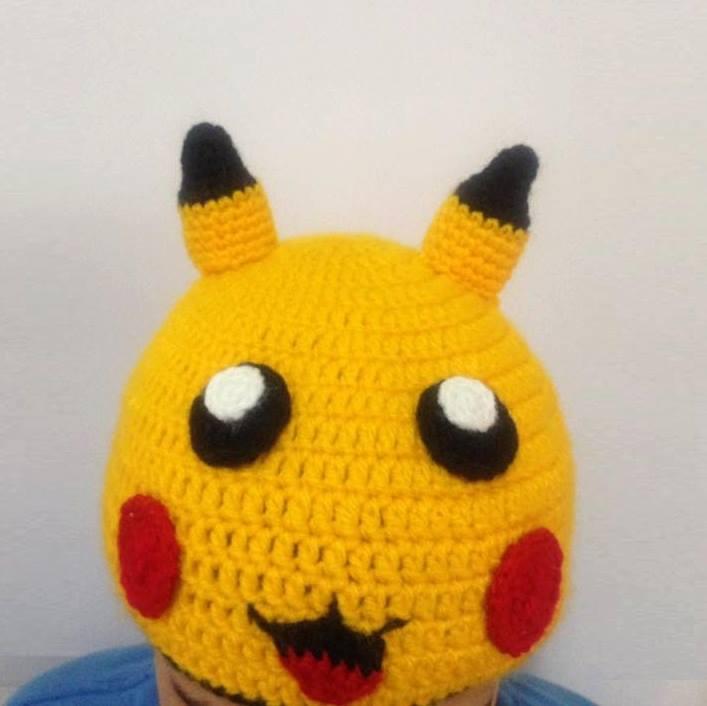 51ce2c79cdfd7 Gorro Pokemon Pikachu Croche