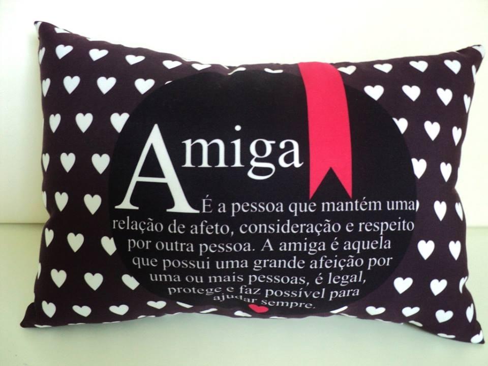 060f6067f2a624 Almofada com Frases para Amiga | Elo7