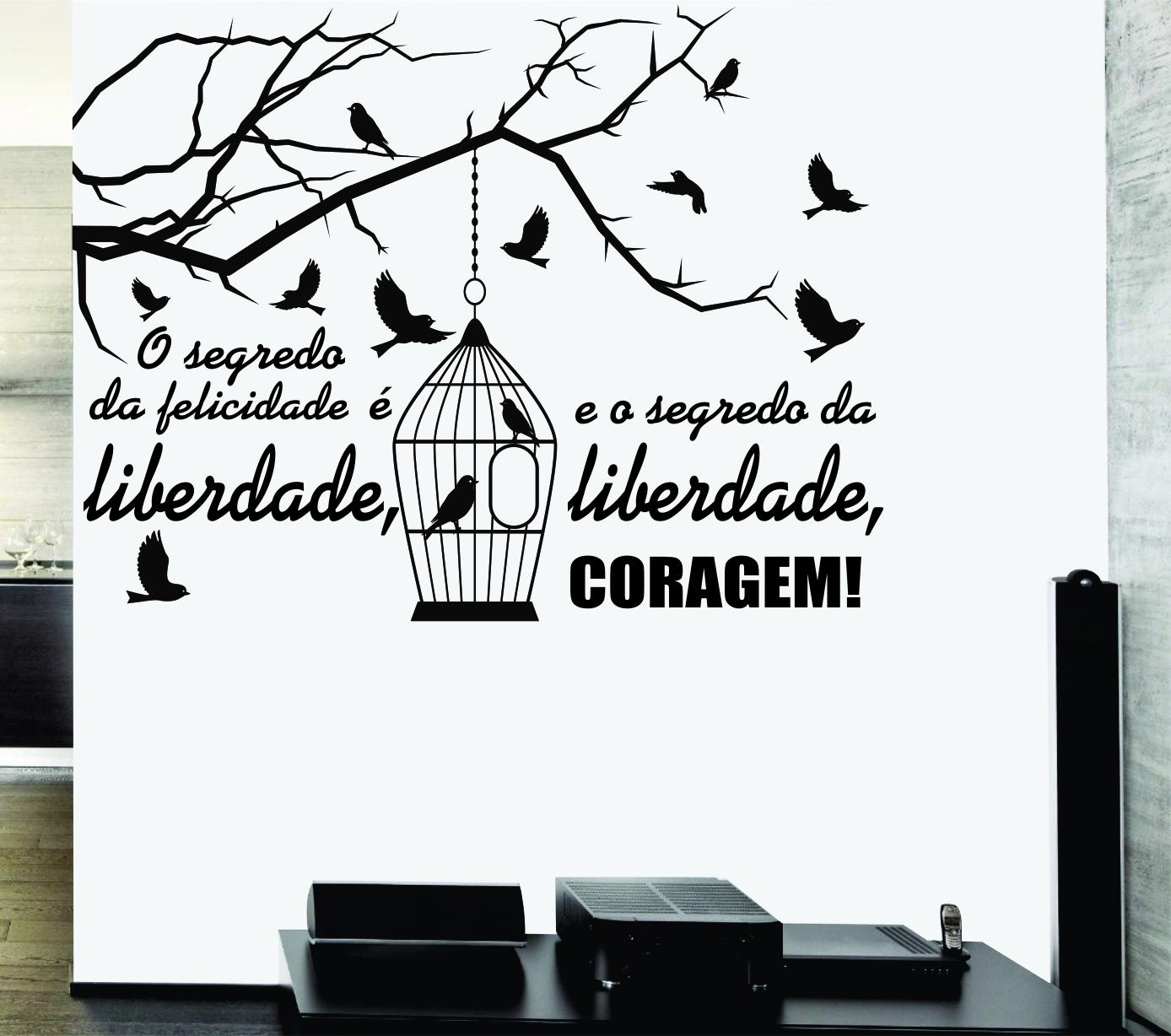 Adesivos Decorativos Frases Felicidade Elo7