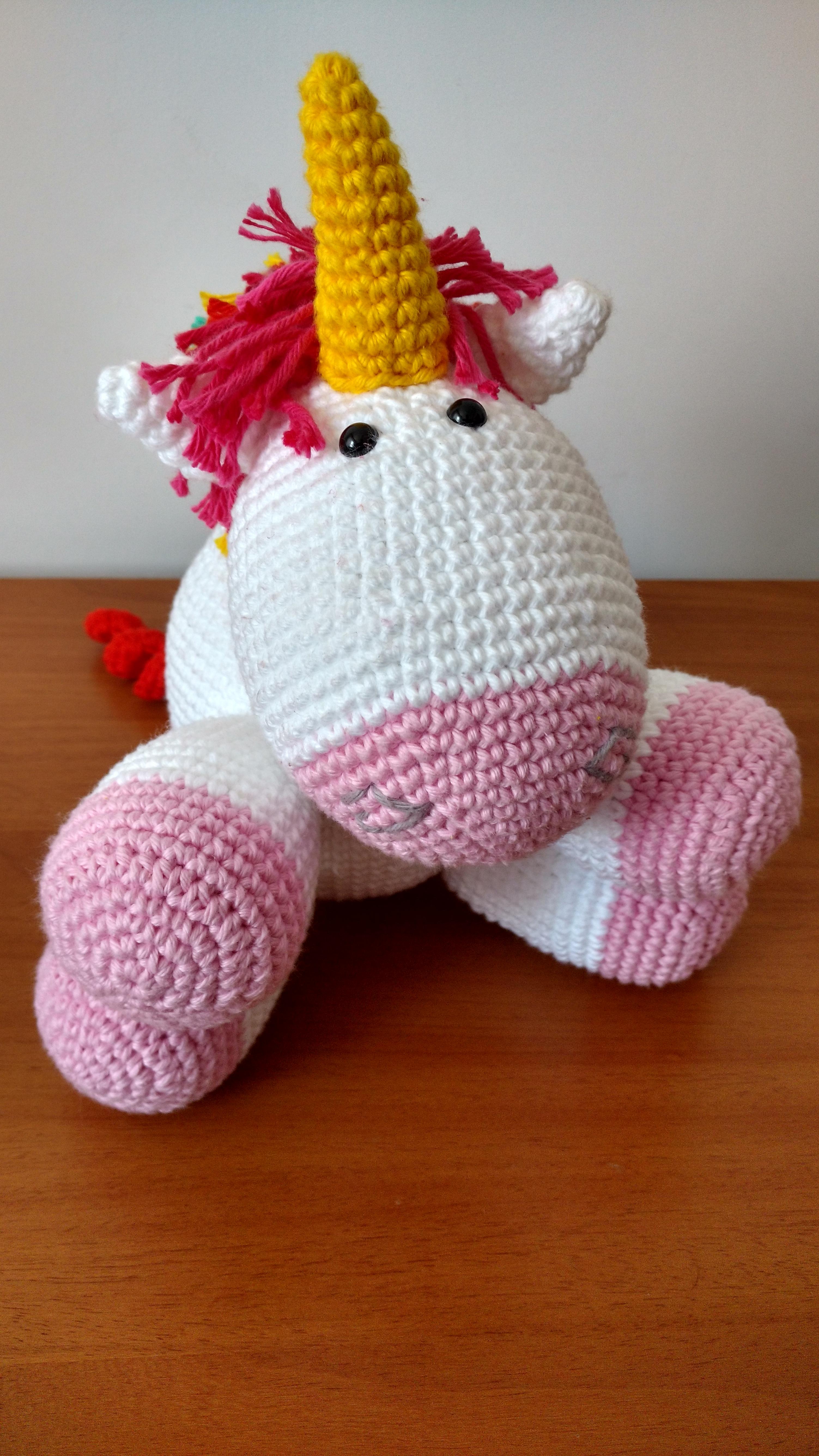 Crochet Pattern: Lil' Fluffy Unicorn (Despicable Me) | Crochet ... | 5344x3006