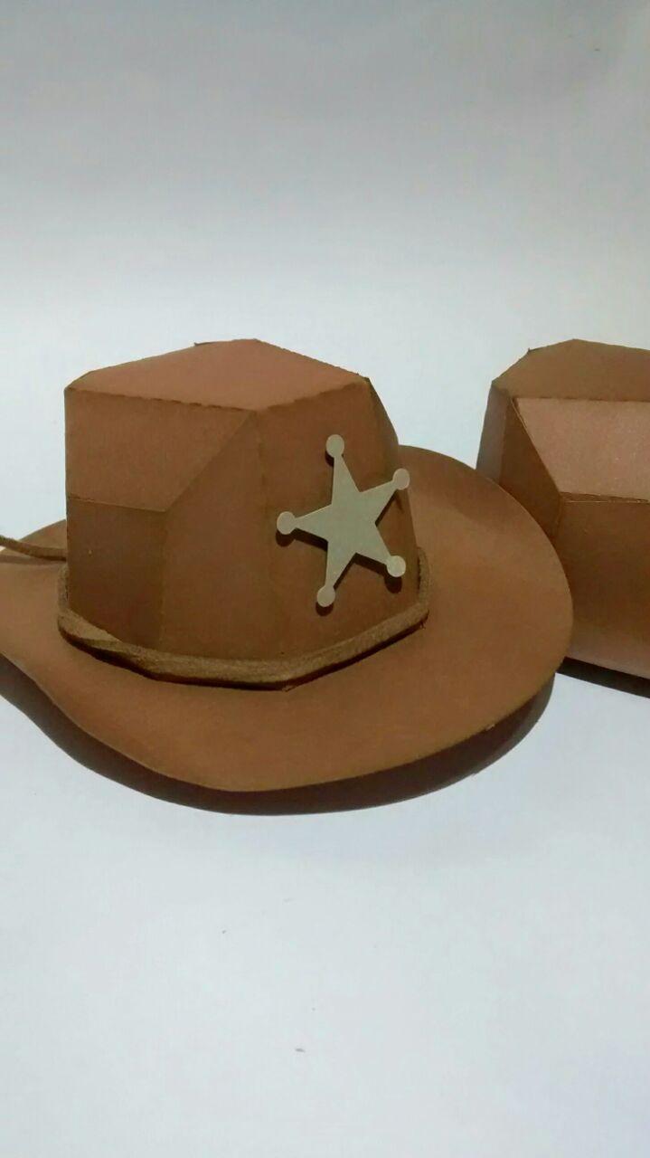 2107034097cf6 Caixa Chapéu Cowboy no Elo7