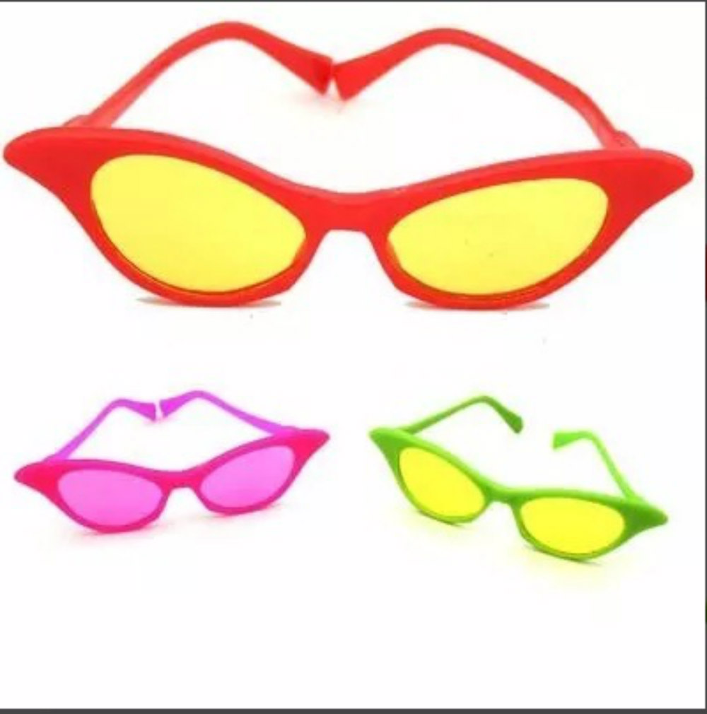 Óculos Gatinha Anos 60 Pacote 10 Unid. no Elo7   Catelândia (884898) fccc365636