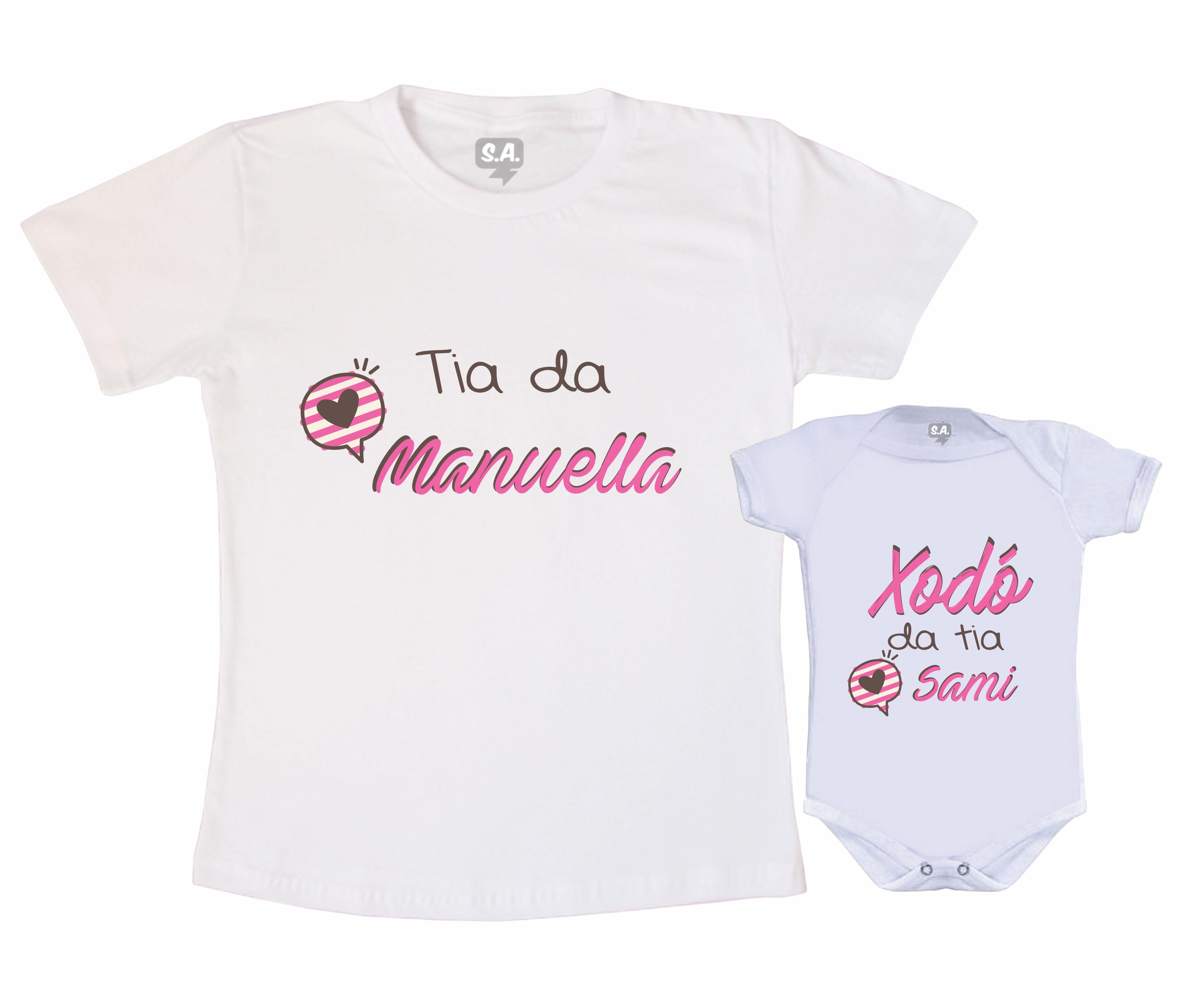 Kit de Camiseta Tal Tia Tal Sobrinha  32a1a38f3a8