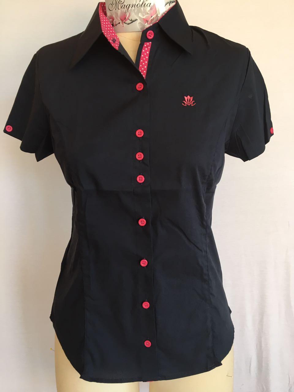 Camisa Feminina Manga Curta Branca  437331214496f