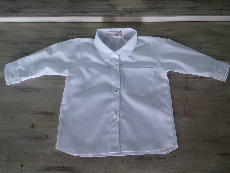 9118405a9 Camisa social manga longa branca menino no Elo7