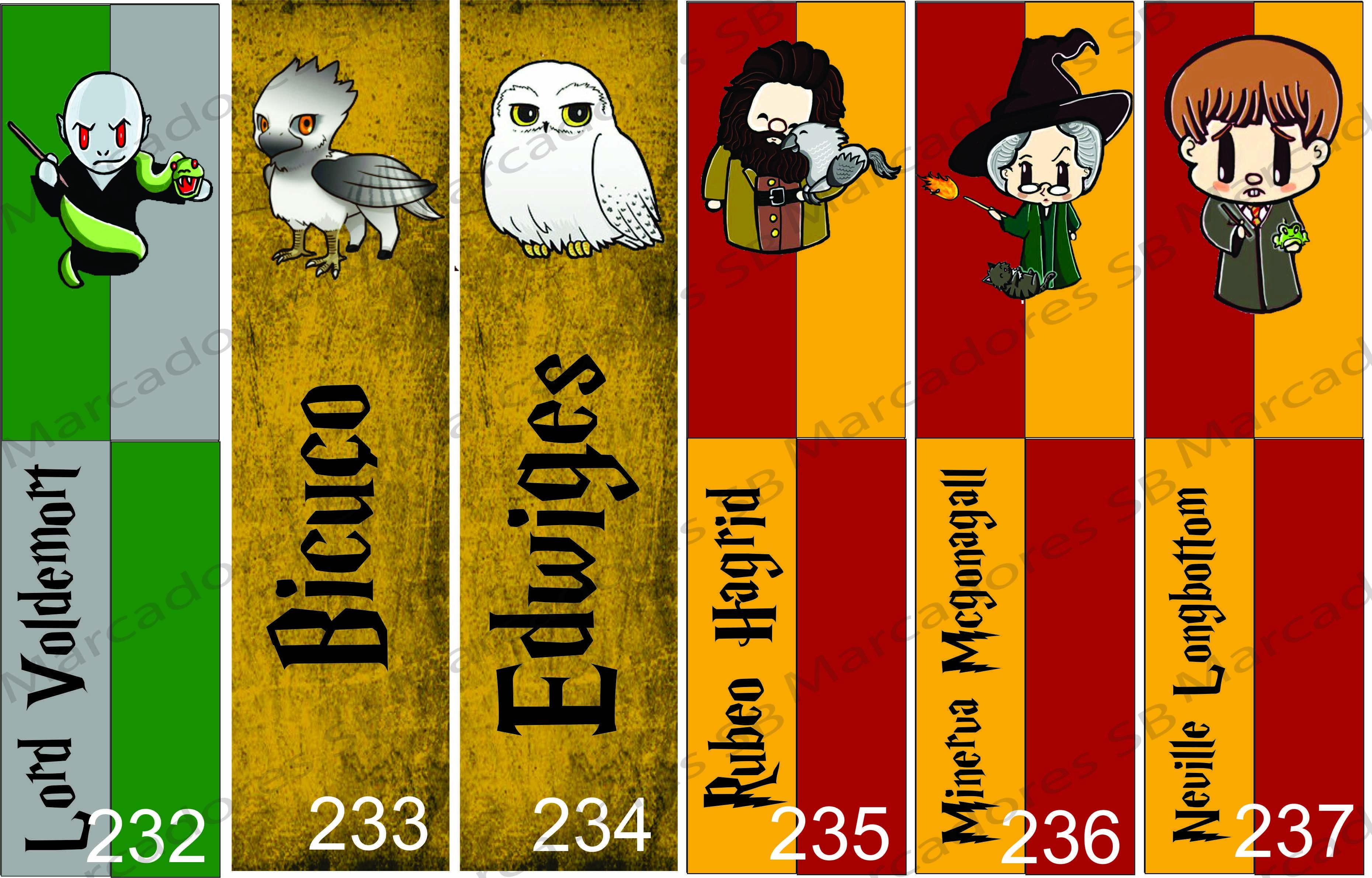 Marcadores De Paginas Harry Potter No Elo7 Sb Artes 887487