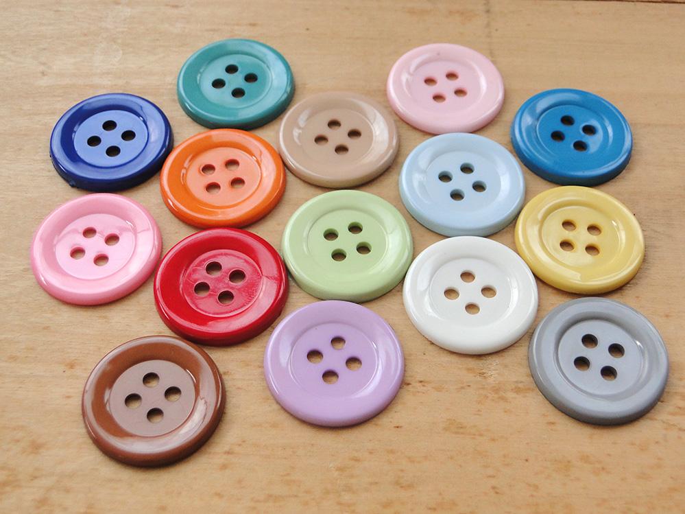 43ee9281fd Kit com 100 botões grandes coloridos no Elo7