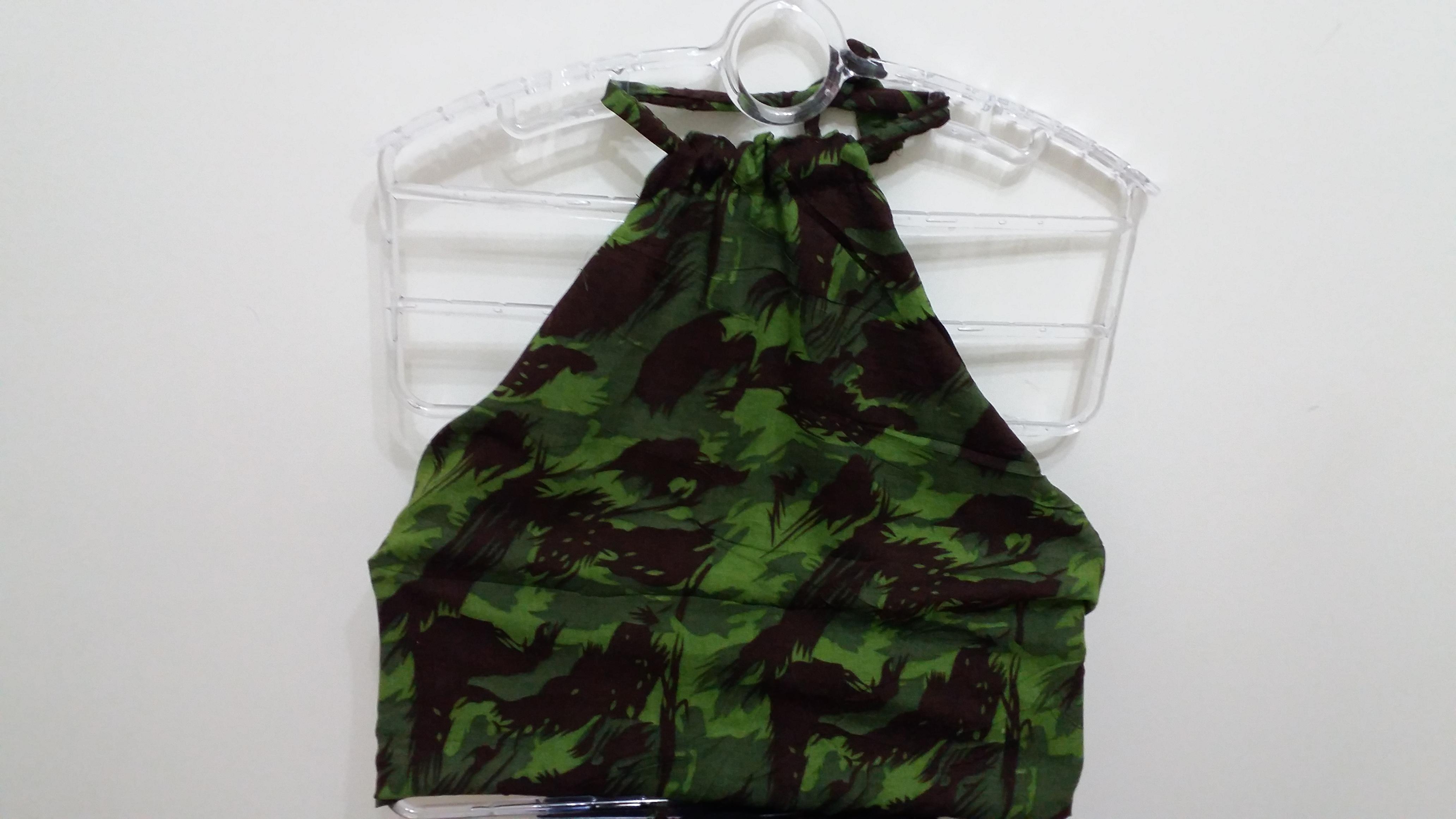 Cropped camuflado no Elo7  8cede08f18d