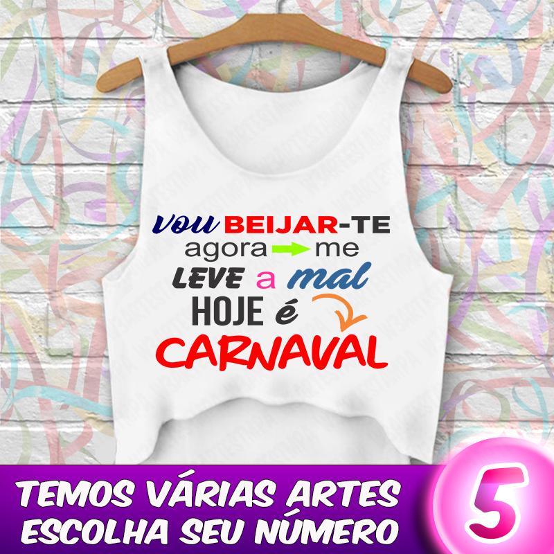 Kit 3 Cropped Carnaval Blusa Com Frases