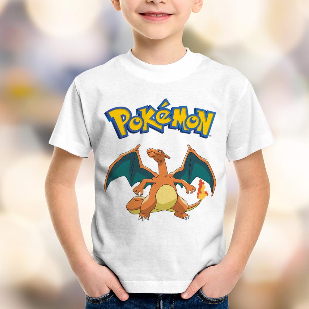 4988bd50e5 Camiseta Infantil Pokémon Charizard no Elo7