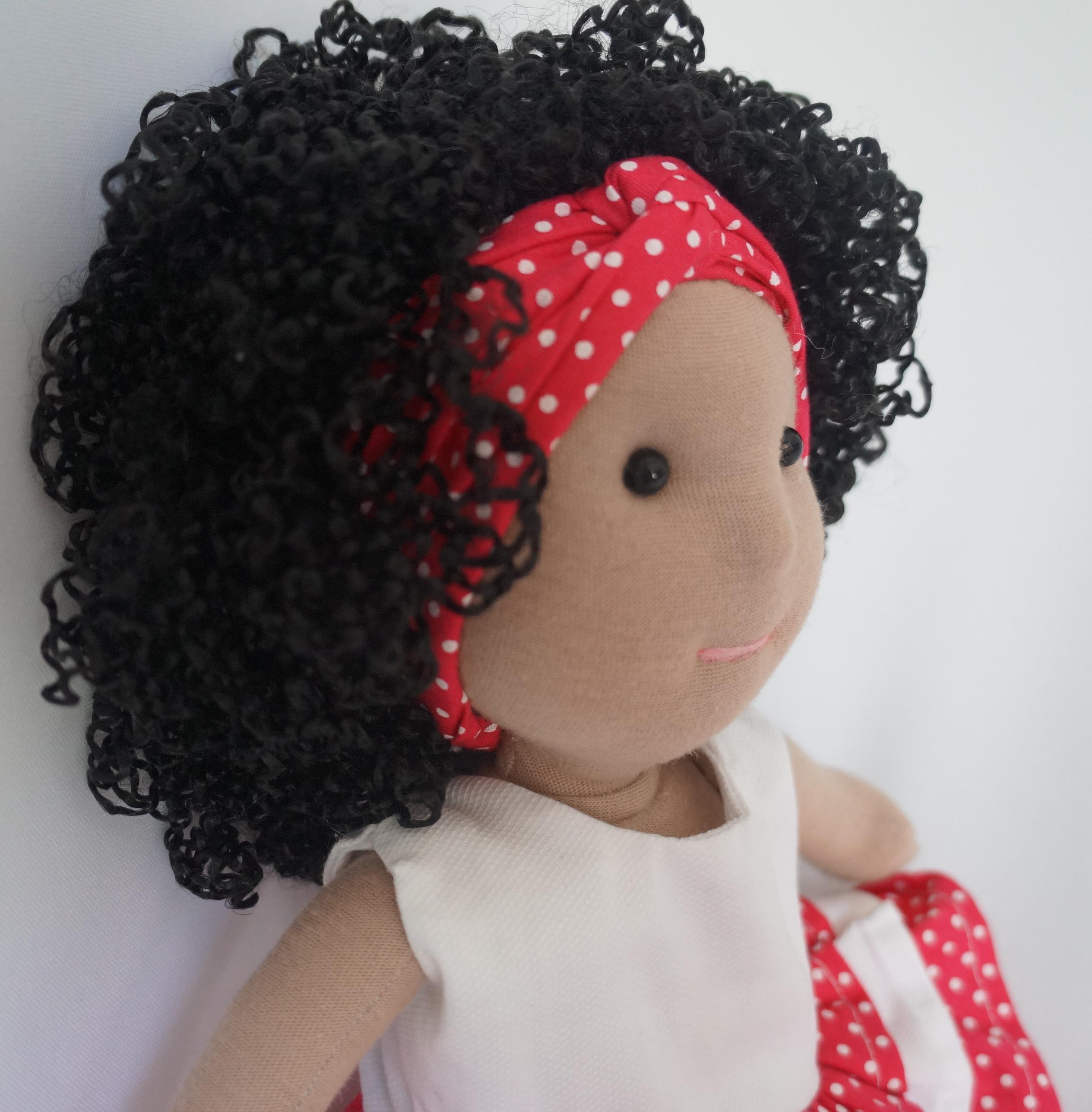 como fazer cabelo de boneca