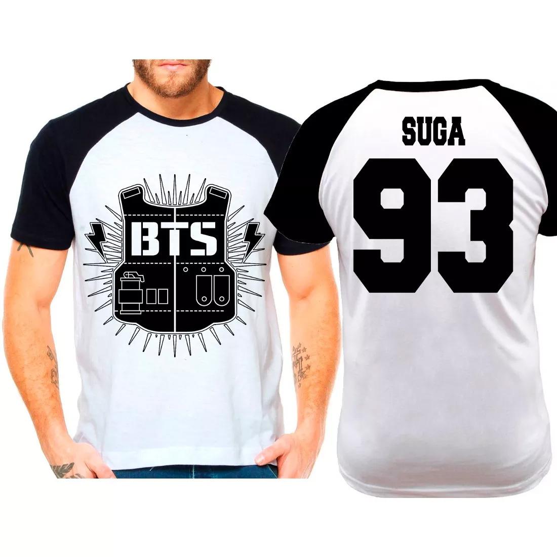 6d84eb066dfc2 Camiseta Raglan Kpop Bts Suga 93 no Elo7