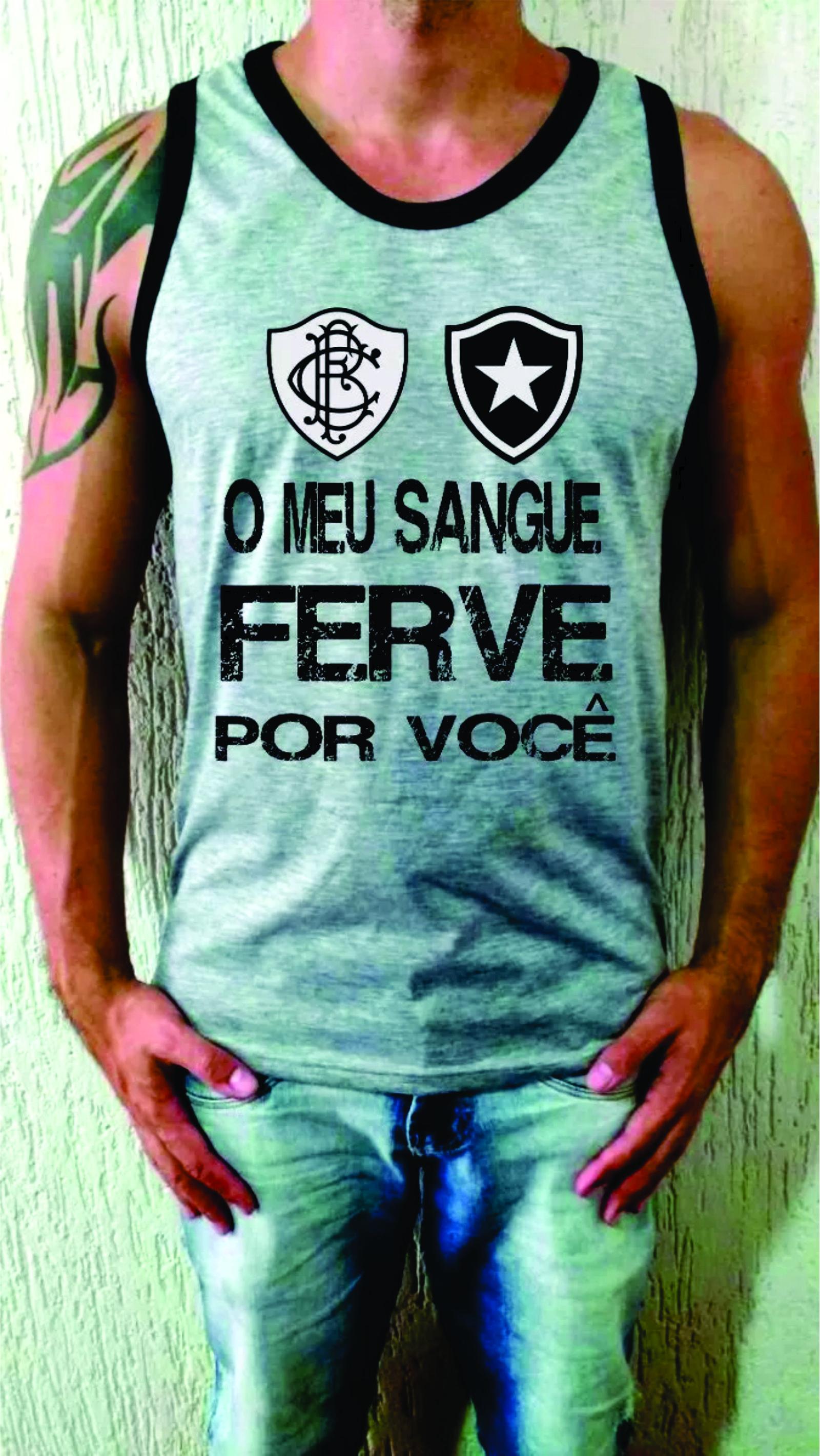 Camiseta Regata Botafogo Fogao Torcida  e9d6d3f0c2061