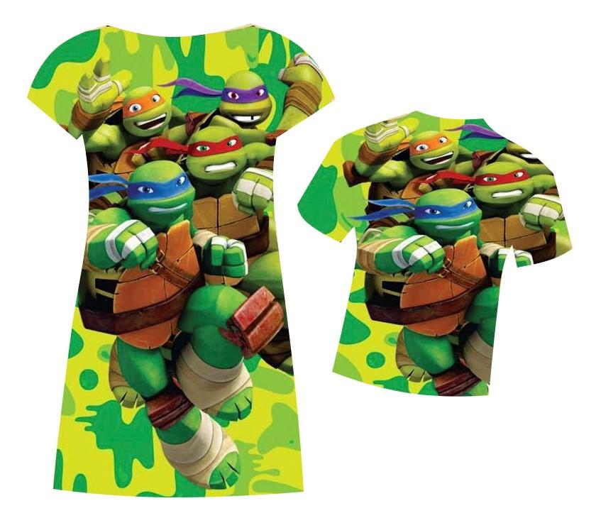 Vestido e camiseta tartaruga ninja no elo7 maria manu 89b65d thecheapjerseys Image collections