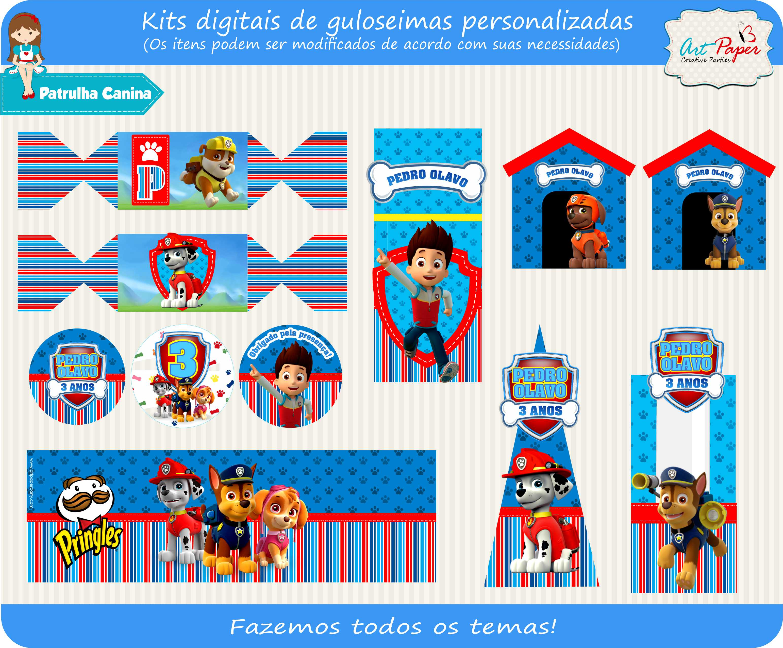 Kit Digital Patrulha Canina Convite Aniversrio Patrulha Canina