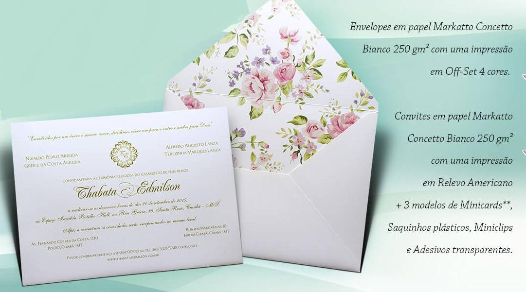 e4776275bc0 Convite Casamento Floral no Elo7