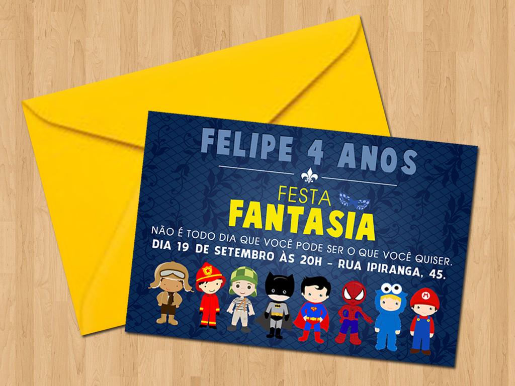 Convite Festa Fantasia No Elo7 Ideal Convites 8a40e7