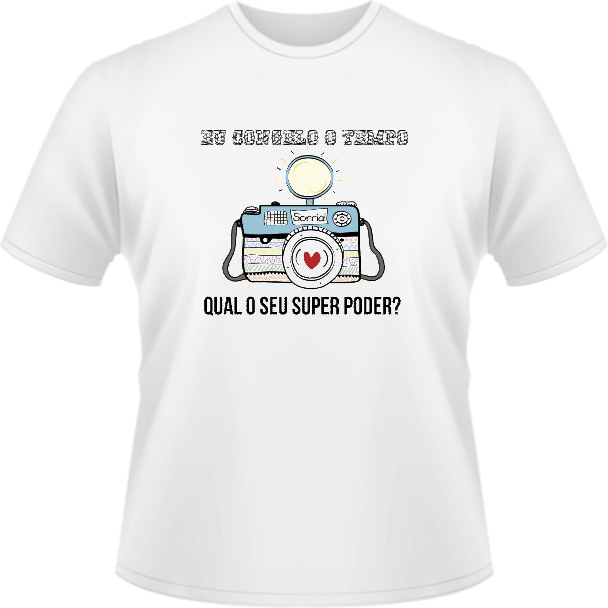 26e23f3963 T shirt Fotografo Profissão Super Poder no Elo7