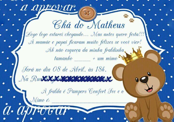 Convite Cha Chá De Bebe Azul No Elo7 Acriativa Presentes B371a5