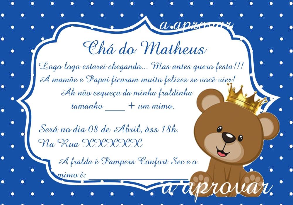 Convite Para Chá De Fraldas No Elo7 Acriativa Presentes 8b27ec