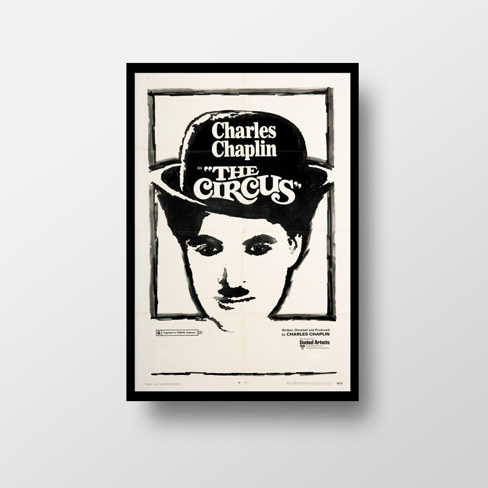 Quadro Poster Com Moldura Chaplin And The Kid Elo7