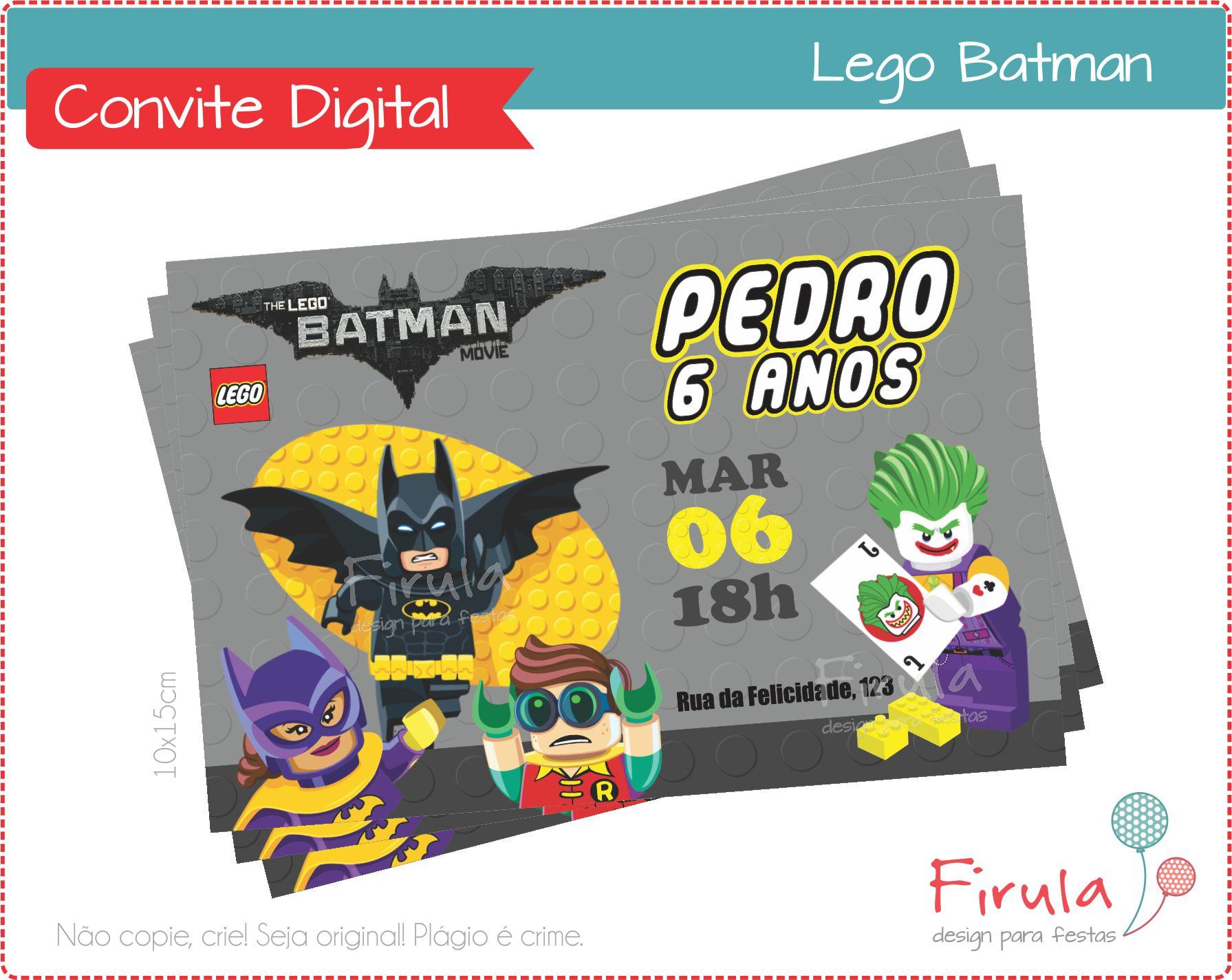 Convite Virtual Lego Elo7