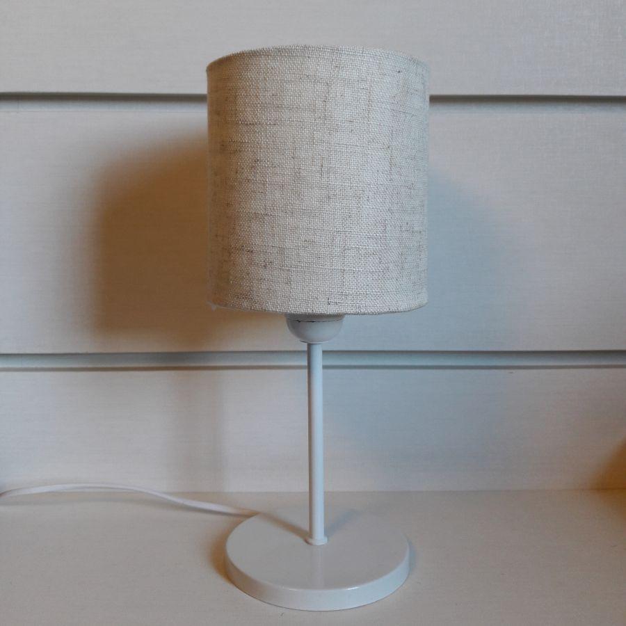 Abajur Pequeno Branco Mesa Md1060 C Pula 13×15 R Stica Bege No Elo7  -> Abajour Para Sala De Jantar