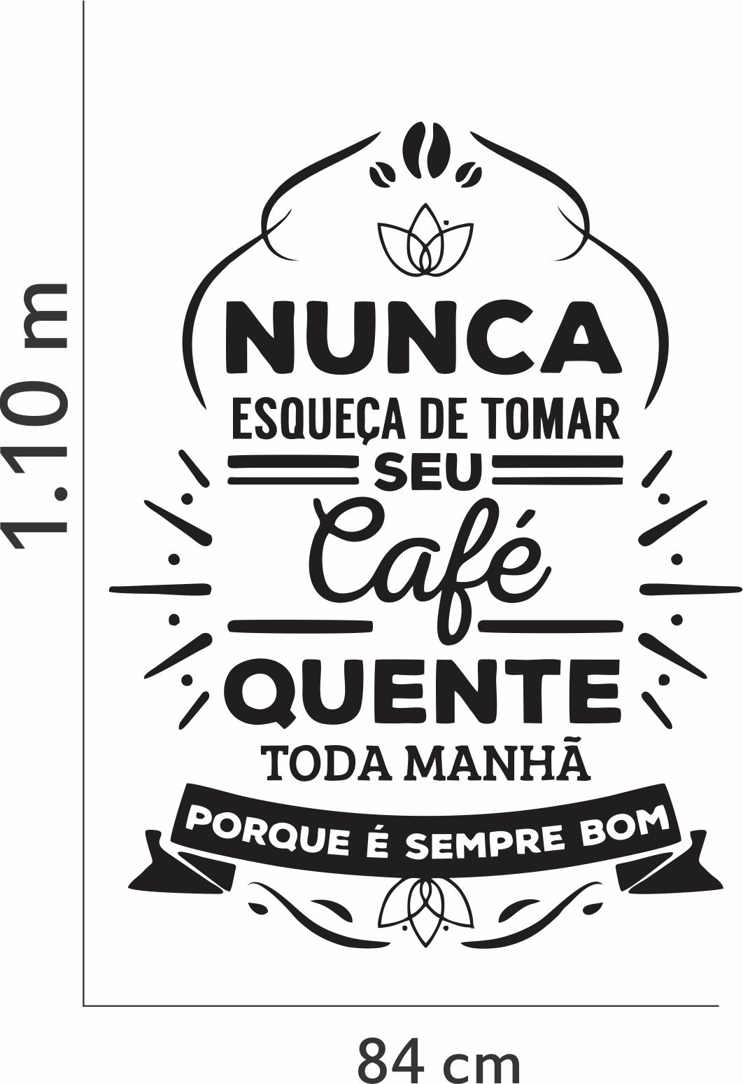 Top Adesivo Parede Café Frase Manhã Xícara no Elo7 | Inove Brindes  DD93