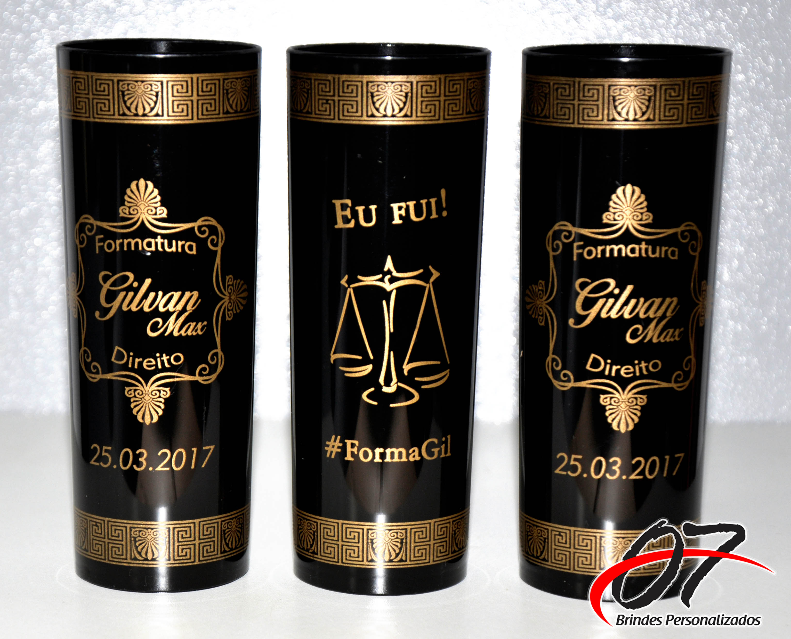 Adesivos De Unhas Oncinha ~ Formatura Copo Personalizado, Long Drink 07 Brindes