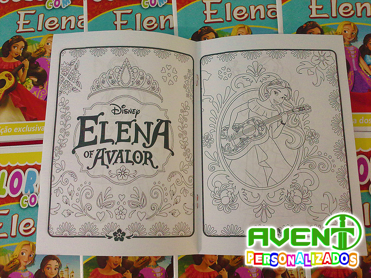 Revista Para Colorir Da Elena De Avalor No Elo7 Avent