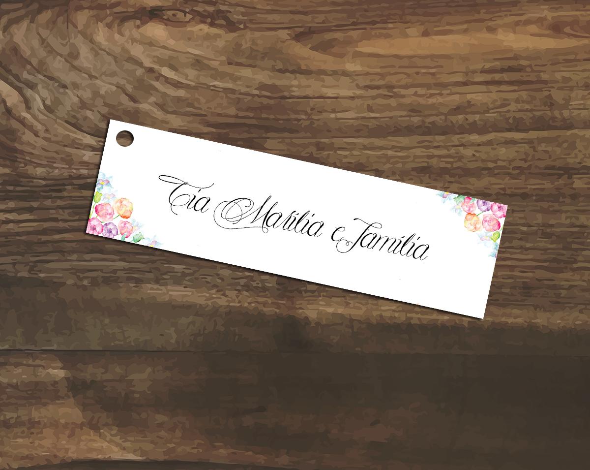 Conhecido Convite com Tag de Nomes de Convidados | Elo7 TQ24