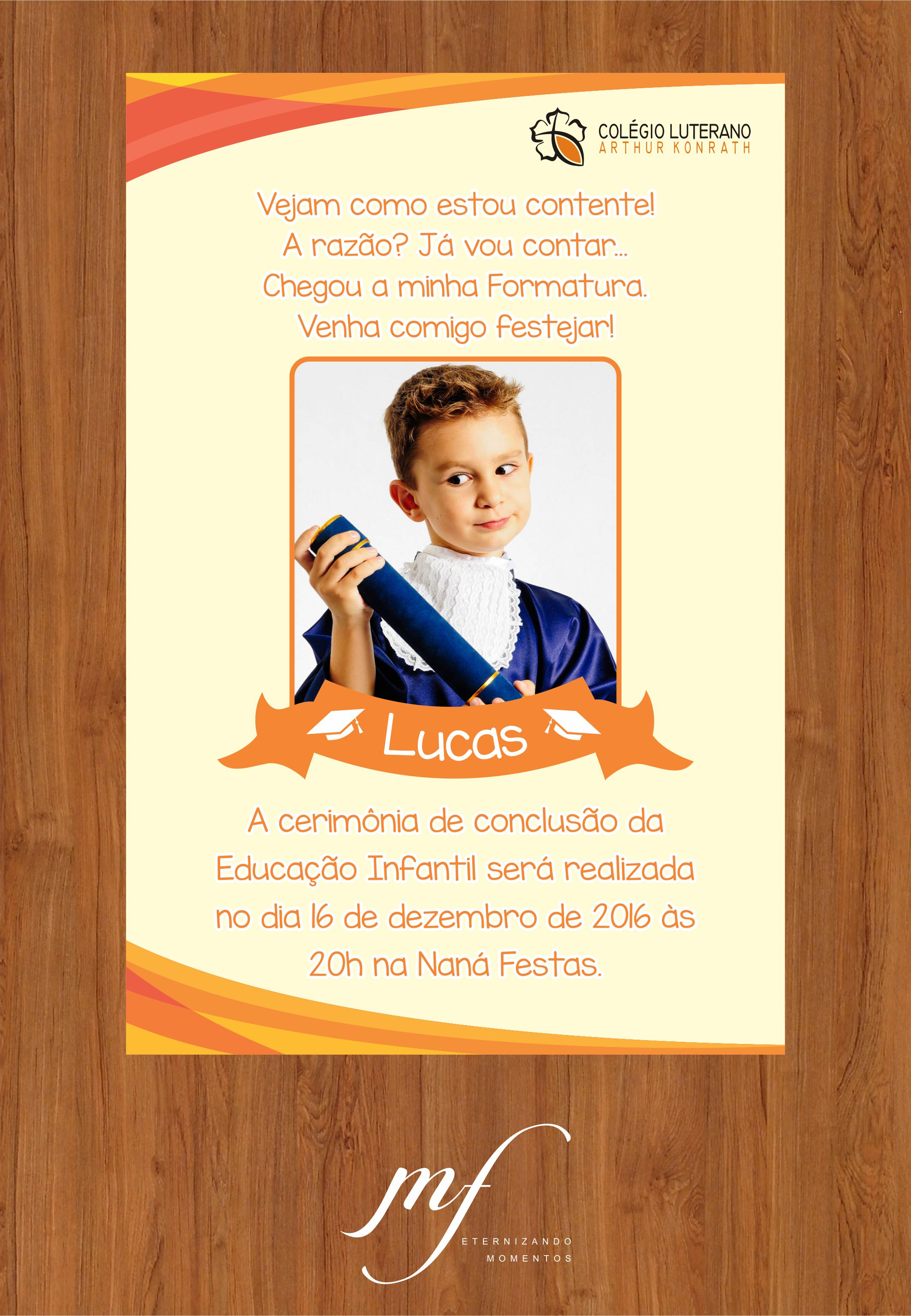 Convite De Formatura Infantil Elo7