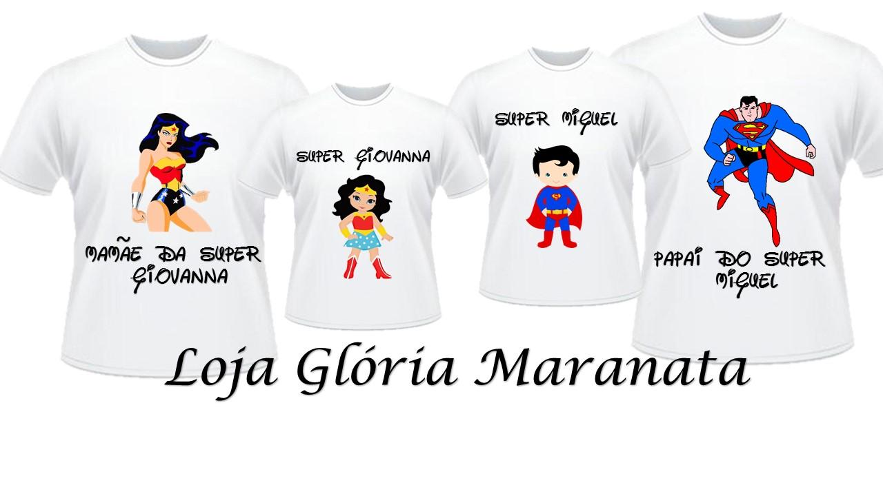 57281cfec Camiseta Mulher Maravilha Super Heroi