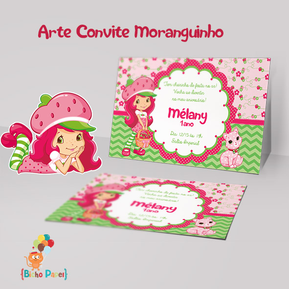 Convite Moranguinho Arte Digital No Elo7 Bicho Papel 8d43f2