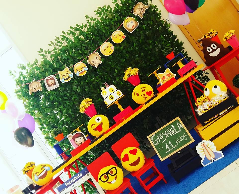 Decoraç u00e3o Festa Emotions Emoji Engenheiras da Festa Elo7 -> Decoracao De Festa Tema Emoji