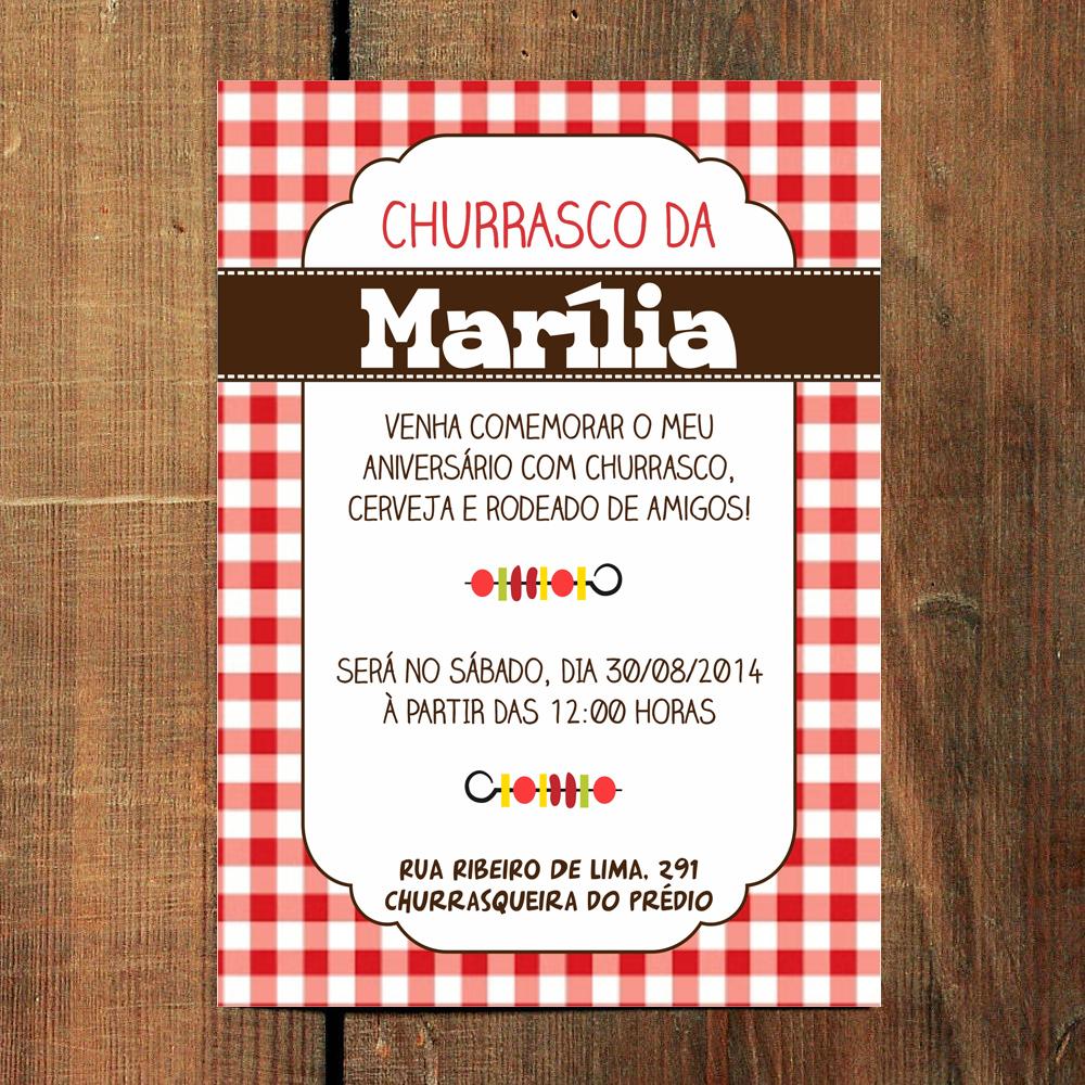 Convite Churrasco E Cerveja Elo7