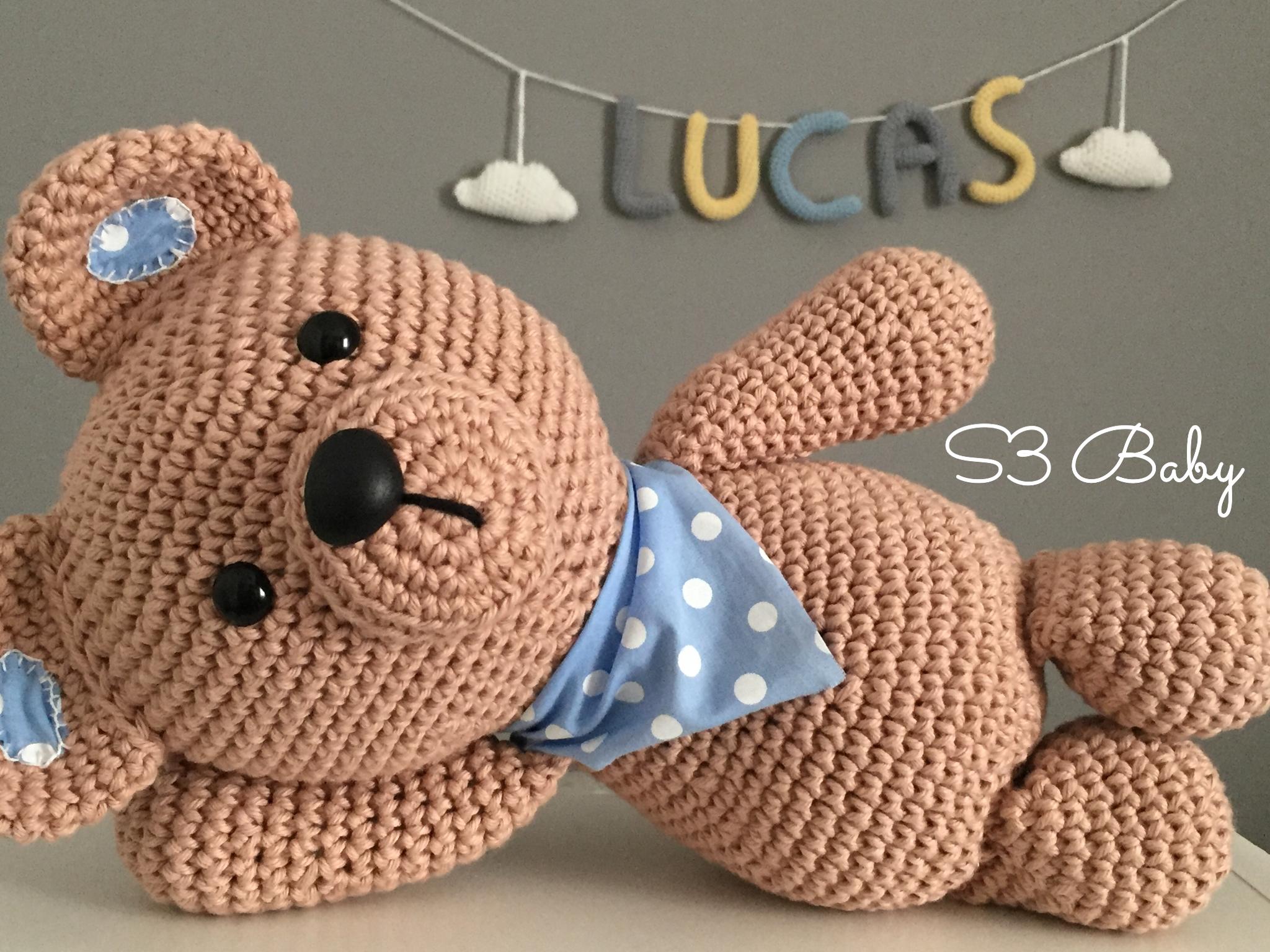 O queridinho em versão menor 30cm 🐻✈ Urso aviador #amigurumilove ... | 1536x2048