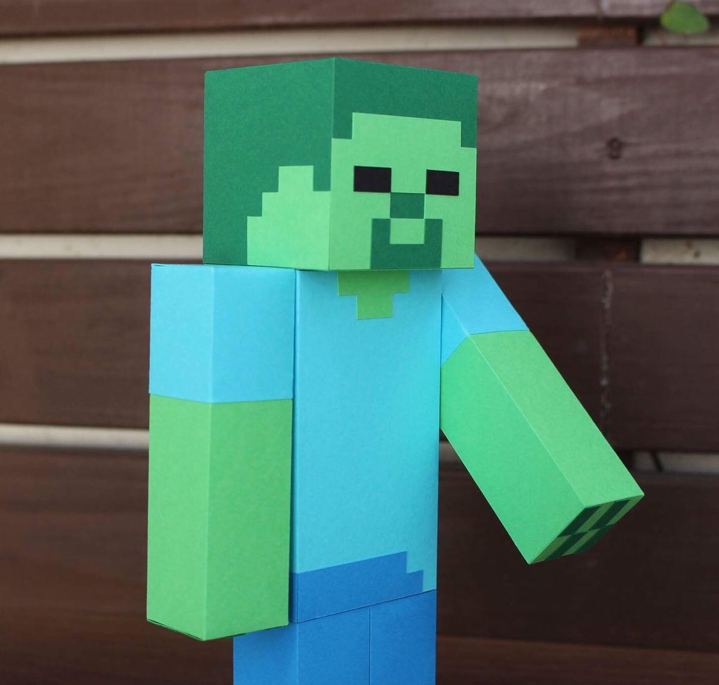 zumbi minecraft no elo7 papeizinhos criativos 8e3554