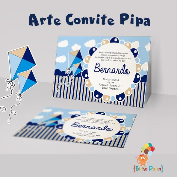 Convite Pipa Arte Digital No Elo7 Bicho Papel 8e5007