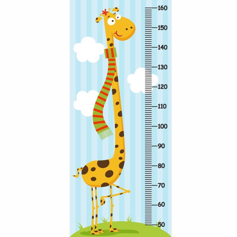 39af0a3bb Adesivo Girafa Regua Medir Crianca