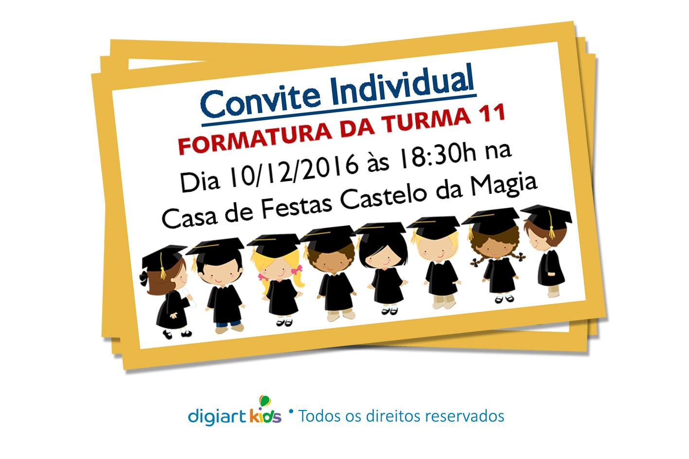Convite Individual Para Recepção De Formatura Elo7