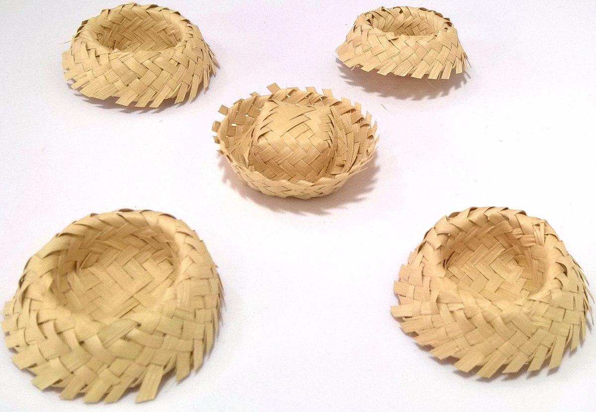 Mini Chapéu De Palha Lembrancinha 25 Un. no Elo7  39867d9362d