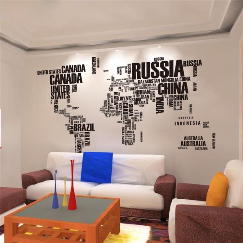 Adesivo de Parede Mapa Mundi  Gruda e Cola  Elo7