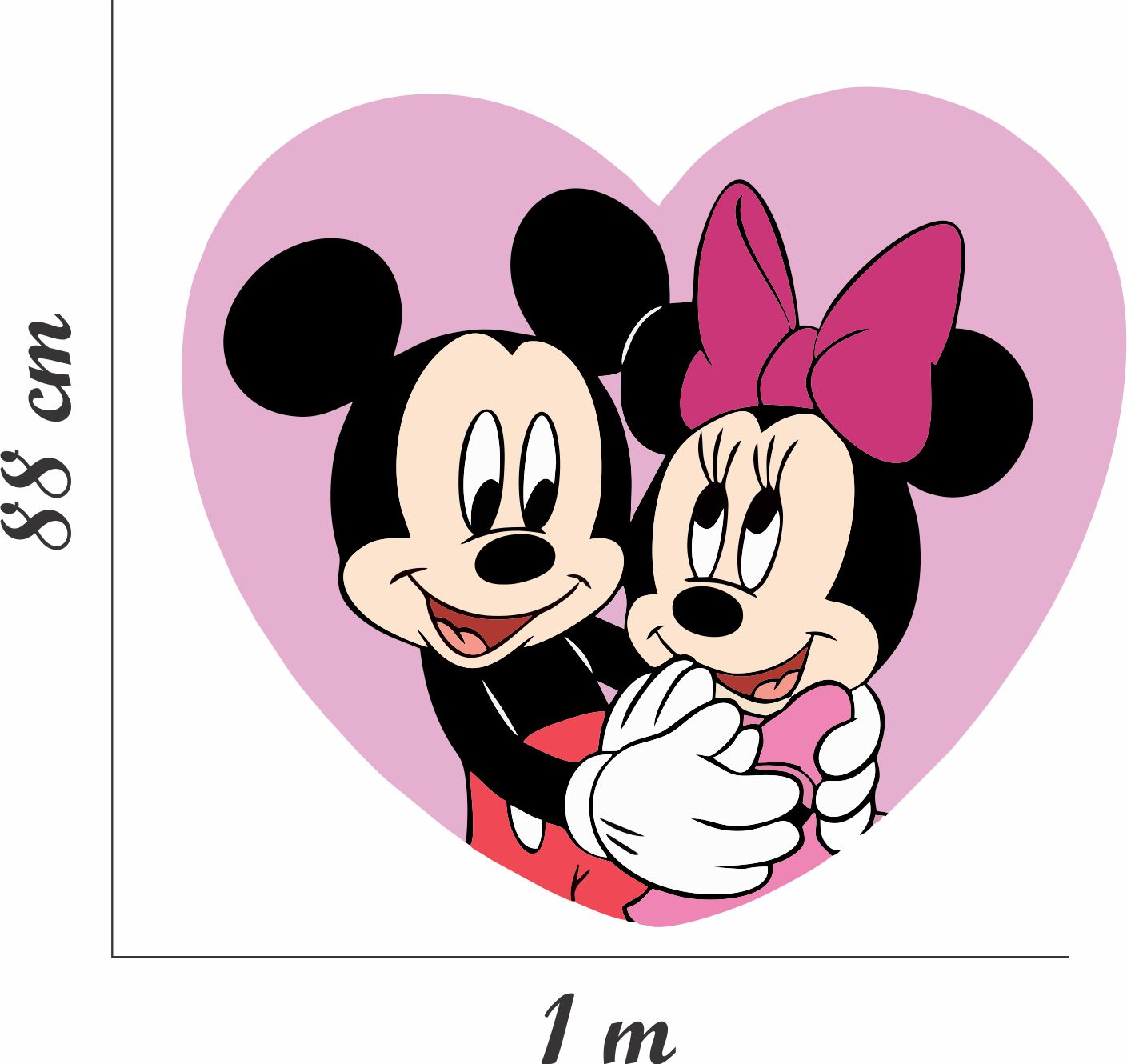 Adesivo Parede Mickey Mouse Minnie Casal No Elo7 Colar Adesivos