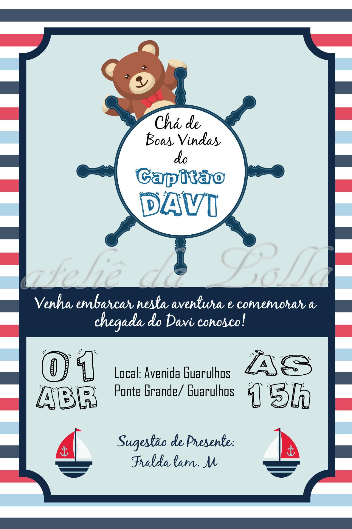 Convite Digital Tema Marinheiro No Elo7 Ateliê Da Lolla 8fb194