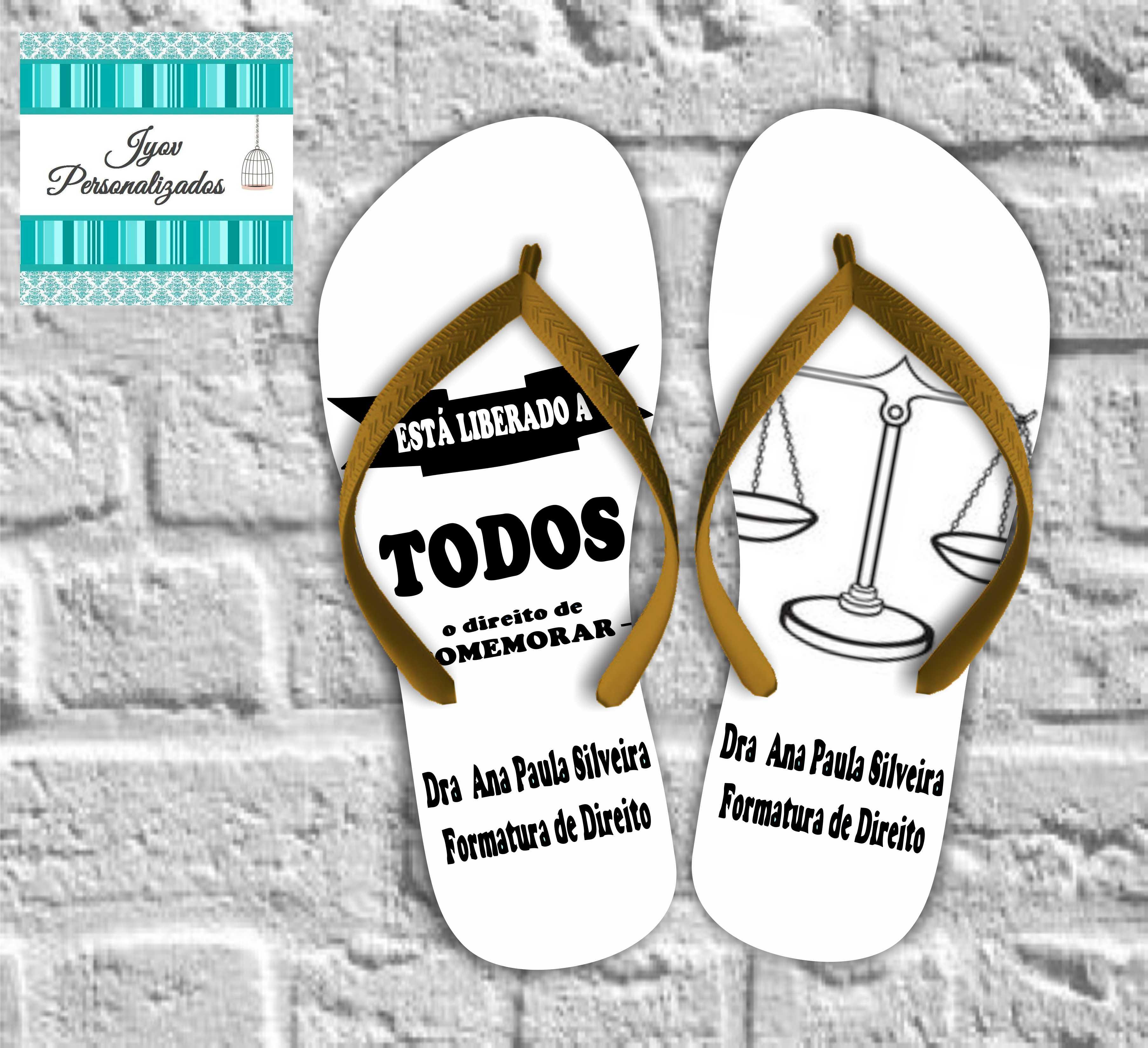 Sandálias Formatura Direito
