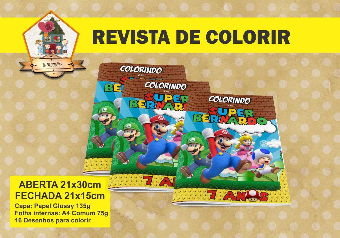 revista de colorir super mario elo7