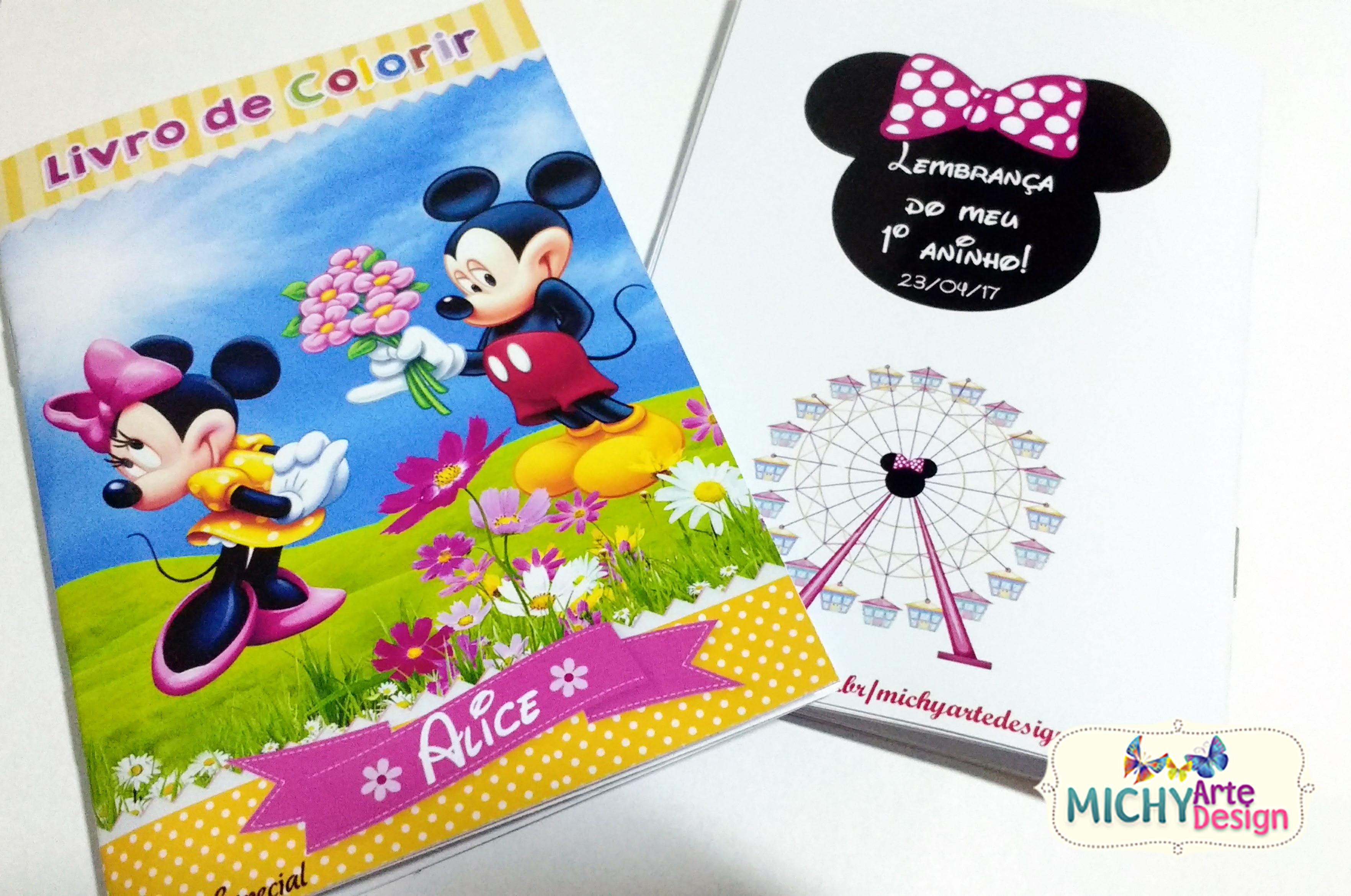 Mini Livro De Colorir Mickey E Minnie No Elo7 Michy Arte