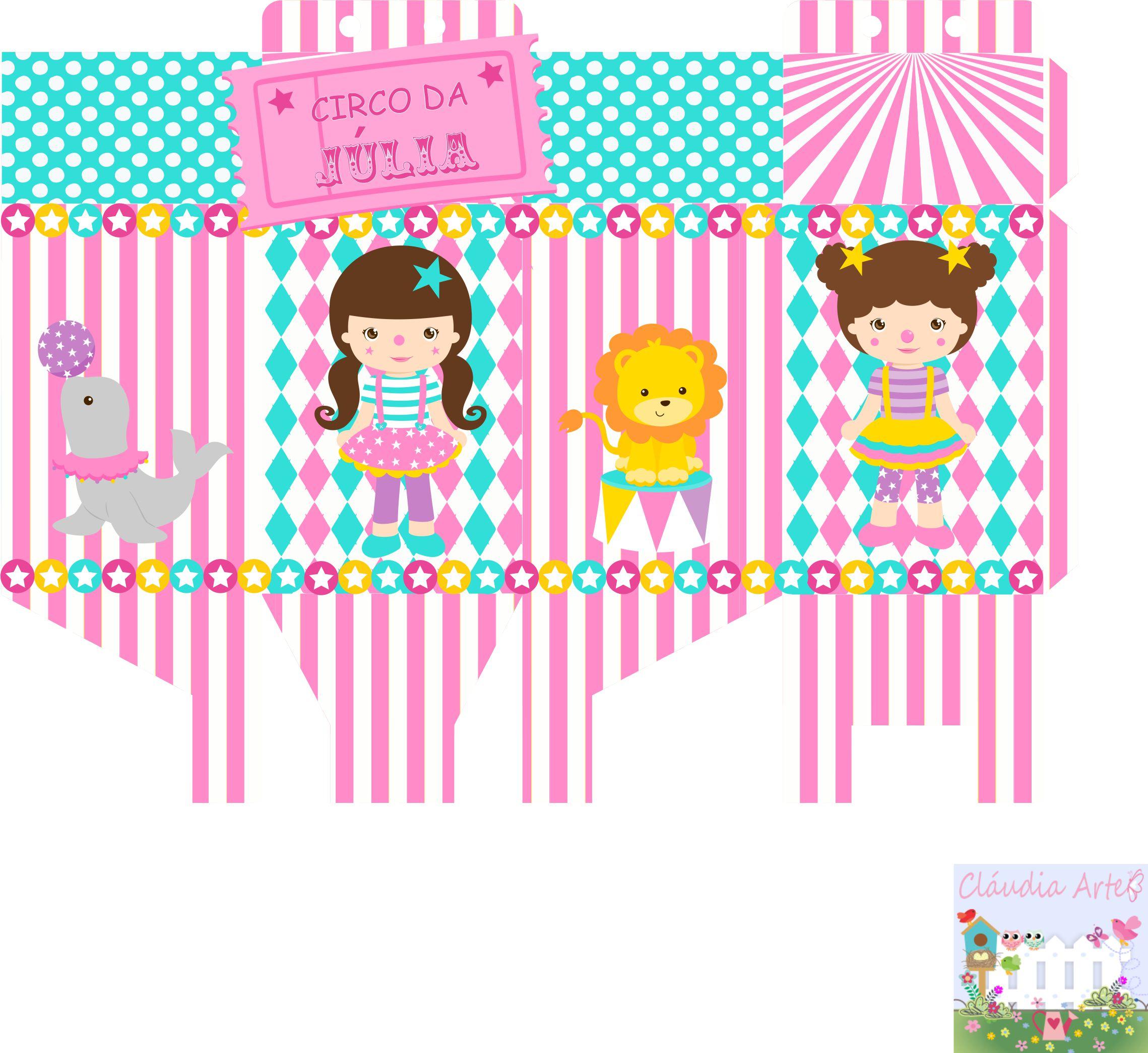 Arte Digital Caixa Milk Circo Rosa No Elo7 Claudia Arte 90169d