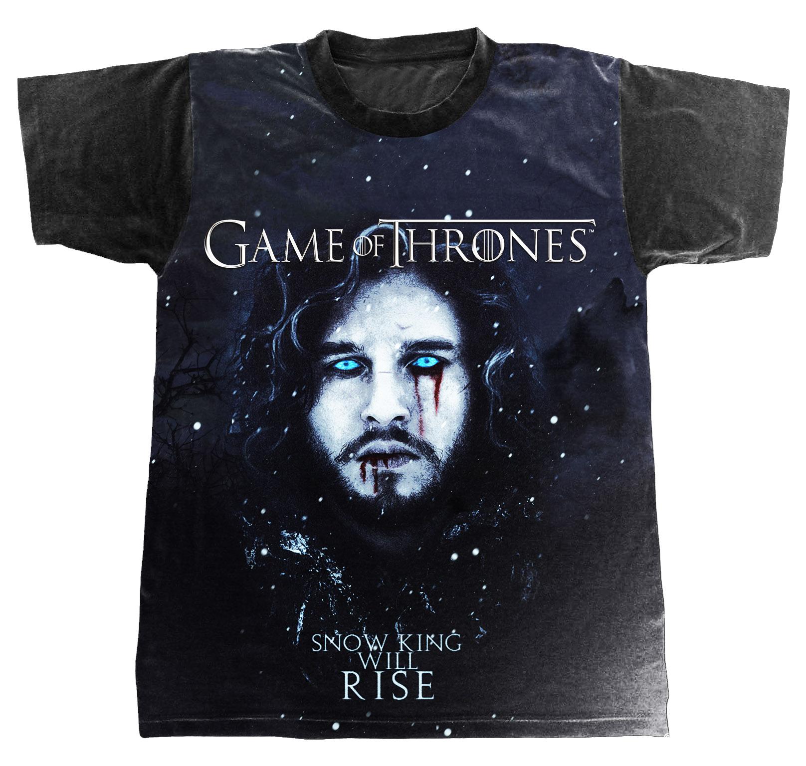 Camiseta Game Of Thrones Jon Snow Azul No Elo7 Ludam Rock 906a6d